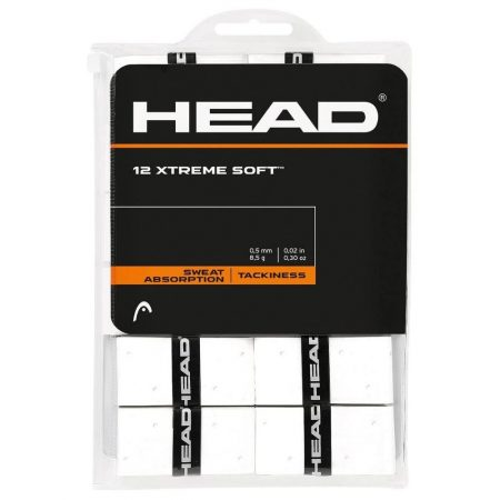 HEAD Xtreme Soft Overgrip, White, 12-Pack