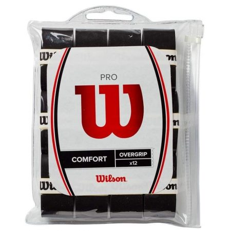 Wilson Pro Overgrip Pack of 12 Black, One Size