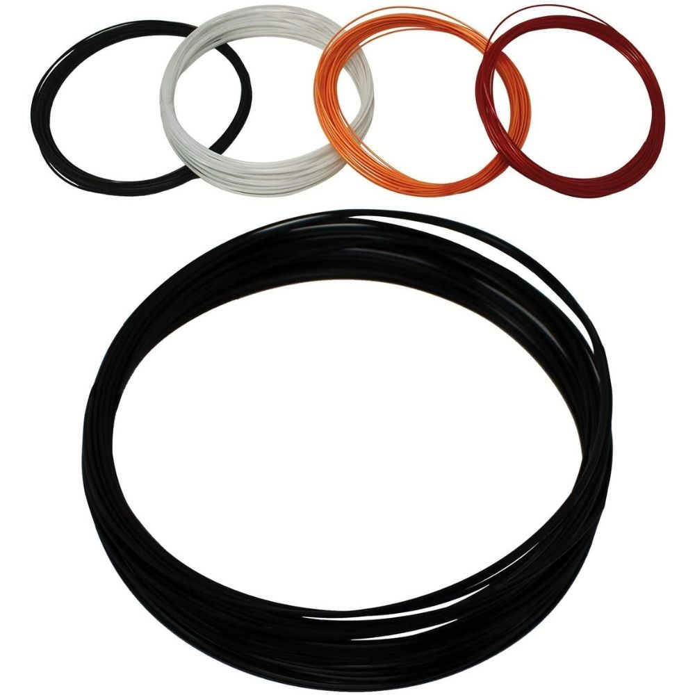Z Best Tennis Racket String (40 Foot Reel) Polymer 17 Guage (17g) - Durable, Spin, Power, Feel, and Control (Black)
