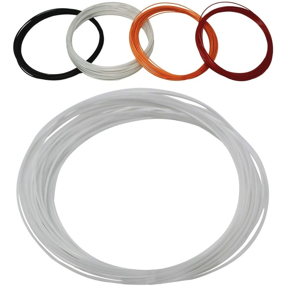 Z Best Tennis Racket String (40 Foot Reel) Polymer 17 Guage (17g) - Durable, Spin, Power, Feel, and Control (White)