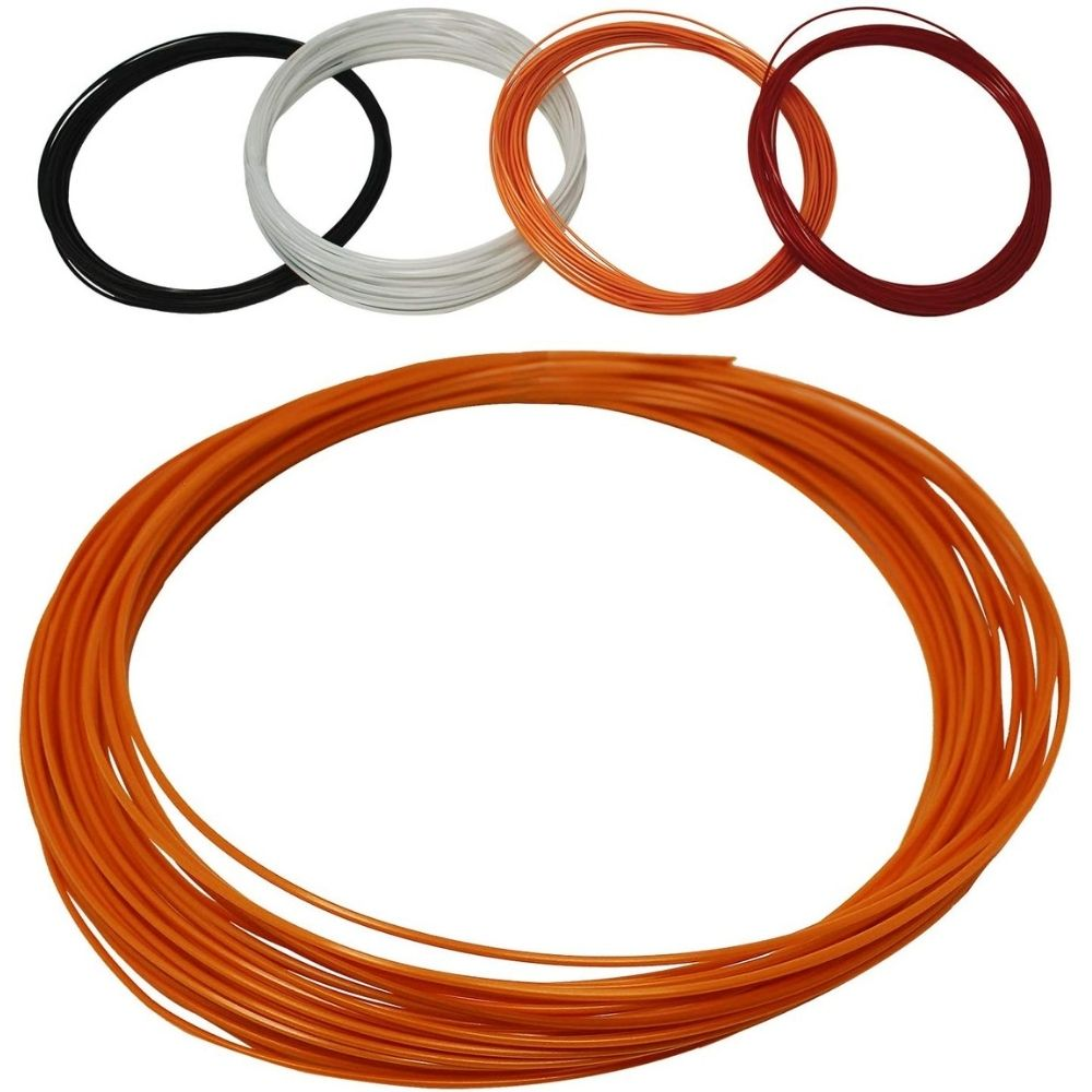 Z Best Tennis Racket String (40 Foot Reel) Polymer 17 Guage (17g) - Durable, Spin, Power, Feel, and Control (Orange)