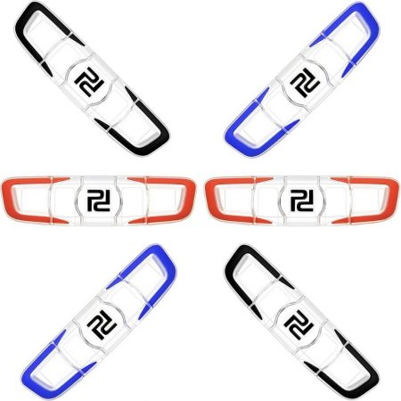 Gejoy 6 Pieces Tennis Vibration Dampener Tennis Racket Shock Absorber Soft Silicon Racket Dampener Long Tennis Dampener Racquetball Accessories for Tennis Player Sports Favor
